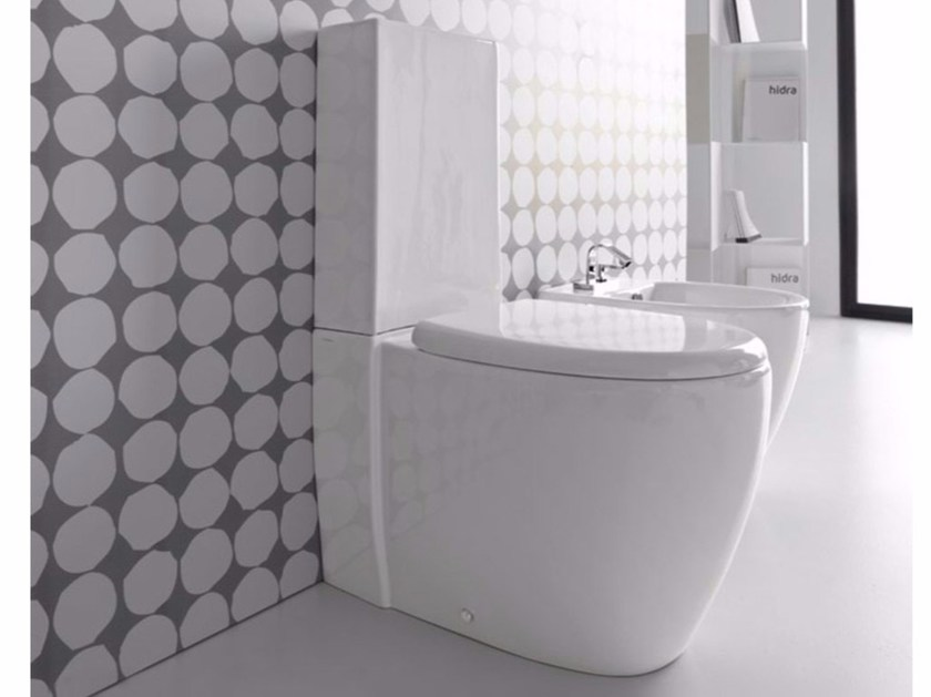 Close coupled ceramic toilet LOFT | Close coupled toilet - Hidra Ceramica