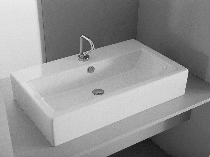 Rectangular ceramic washbasin LOFT | Countertop washbasin - Hidra Ceramica
