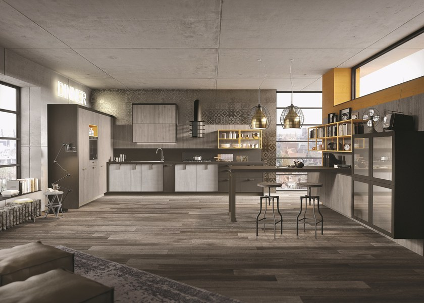 Contemporary style linear custom fitted kitchen LOFT | Linear kitchen by Snaidero