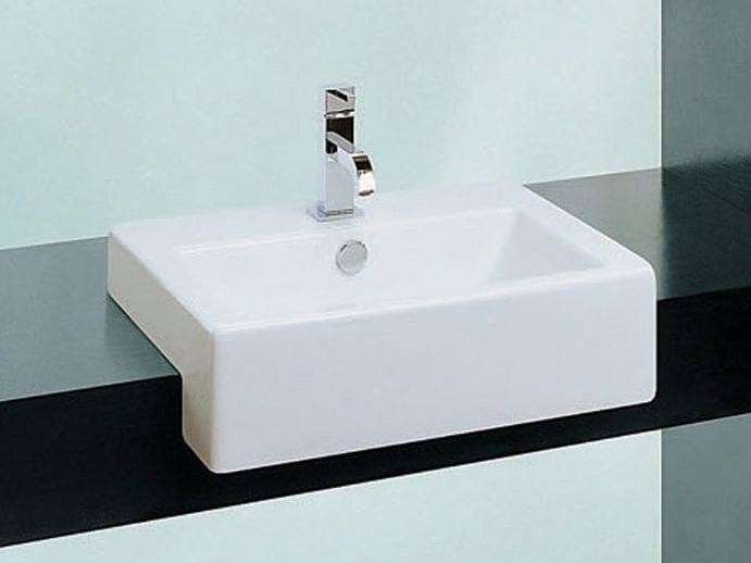 Ceramic washbasin LOFT | Semi-inset washbasin - Hidra Ceramica