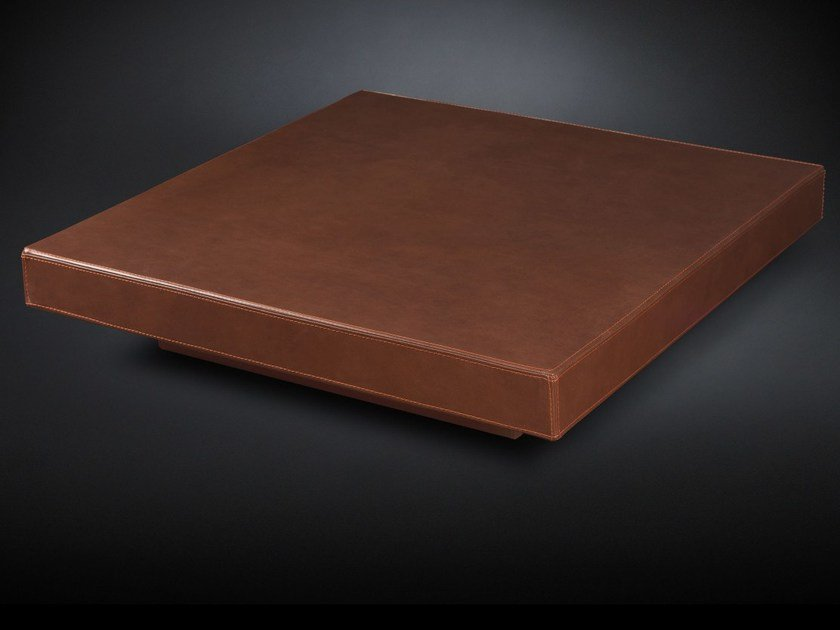 Low square leather coffee table LOFT - VGnewtrend