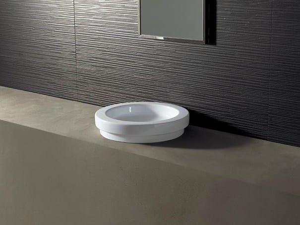 Round ceramic washbasin LOGIC Ø43 - Alice Ceramica