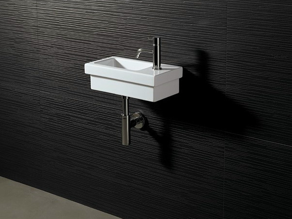 Rectangular ceramic washbasin LOGIC 42X22 - Alice Ceramica