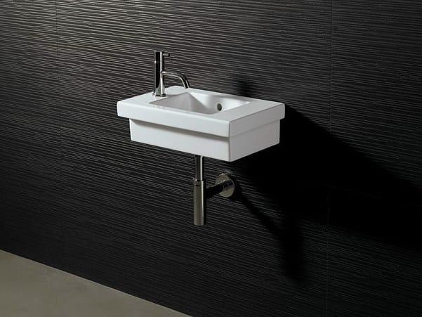 Rectangular ceramic washbasin LOGIC 45X30 - Alice Ceramica