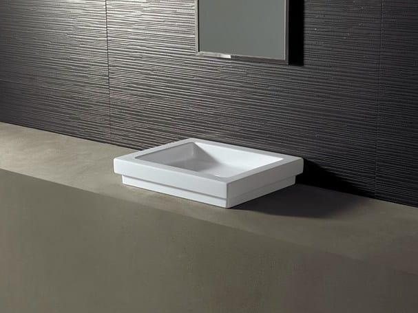 Rectangular ceramic washbasin LOGIC 50X40 - Alice Ceramica