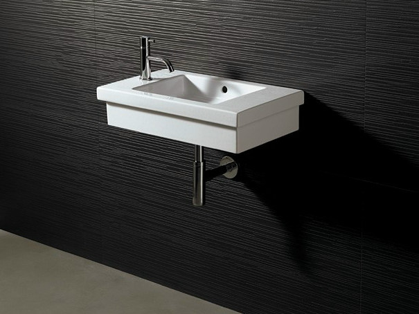 Rectangular ceramic washbasin LOGIC 60X35 - Alice Ceramica