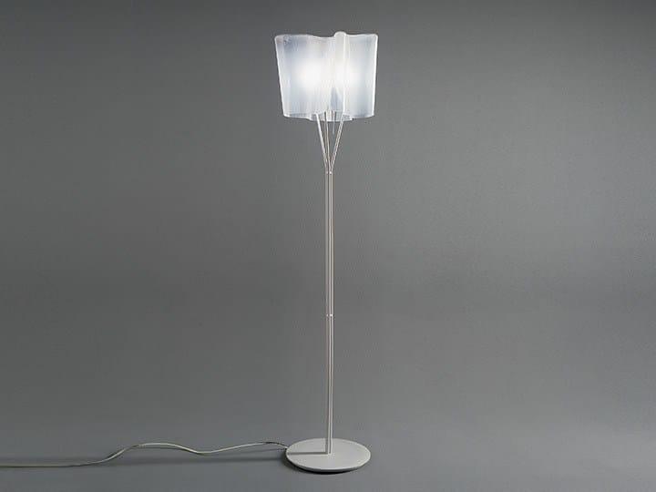 Direct light blown glass floor lamp LOGICO | Floor lamp - Artemide