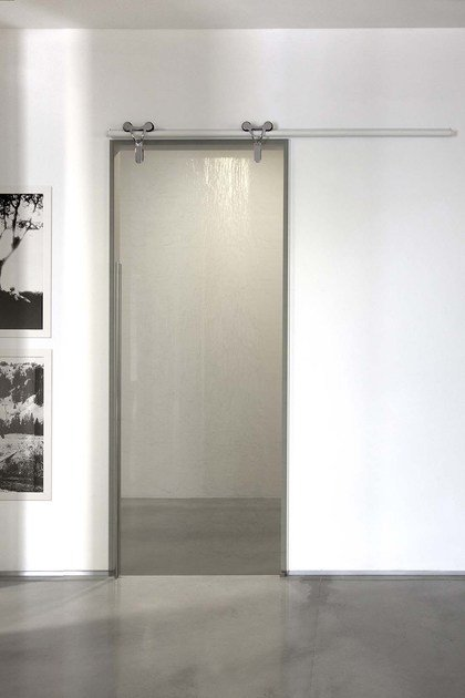 Glass sliding door without frame LOGIKA | Sliding door - ADIELLE