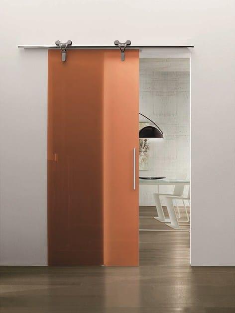 Porta scorrevole in vetro senza telaio logika porta for Porta esterna