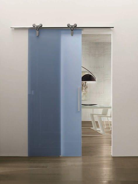 Porta scorrevole in vetro senza telaio logika porta - Porta scorrevole vetro ...