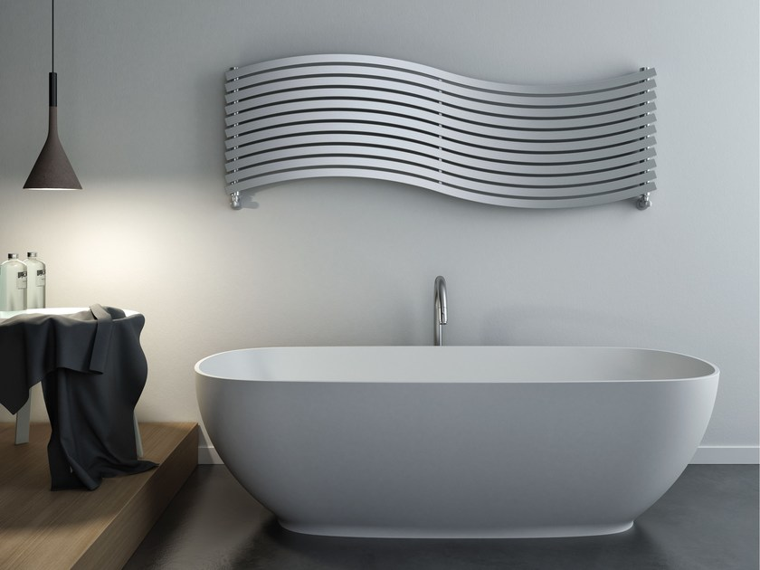 Hot-water brushed steel decorative radiator LOLA | Brushed steel decorative radiator - CORDIVARI