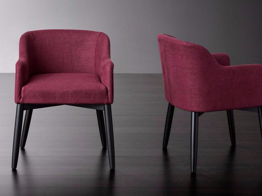 Easy chair with removable cover LOLA - Meridiani