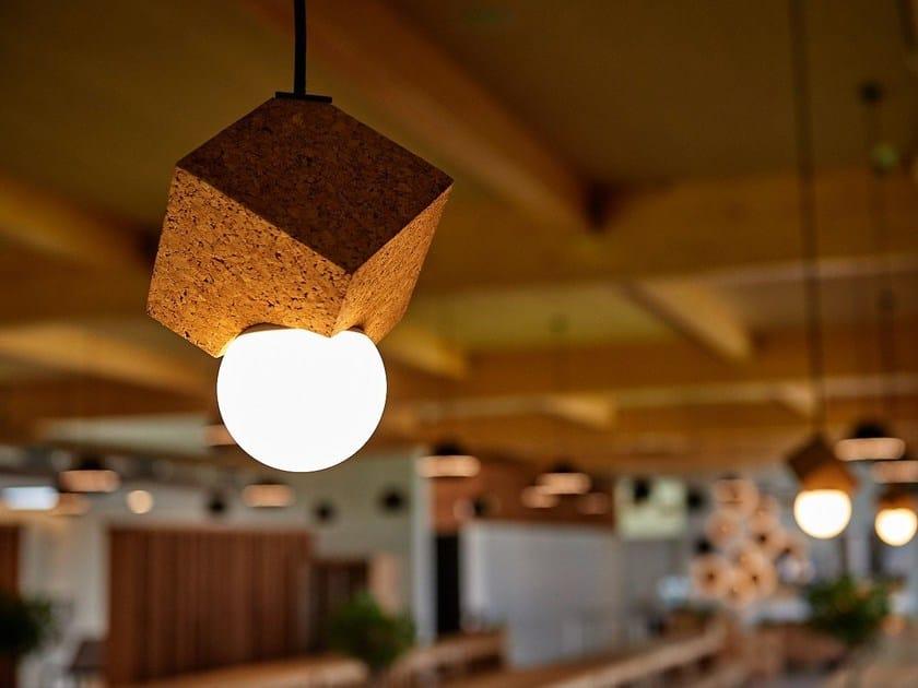 LED cork pendant lamp LOLIPOP - Exporlux
