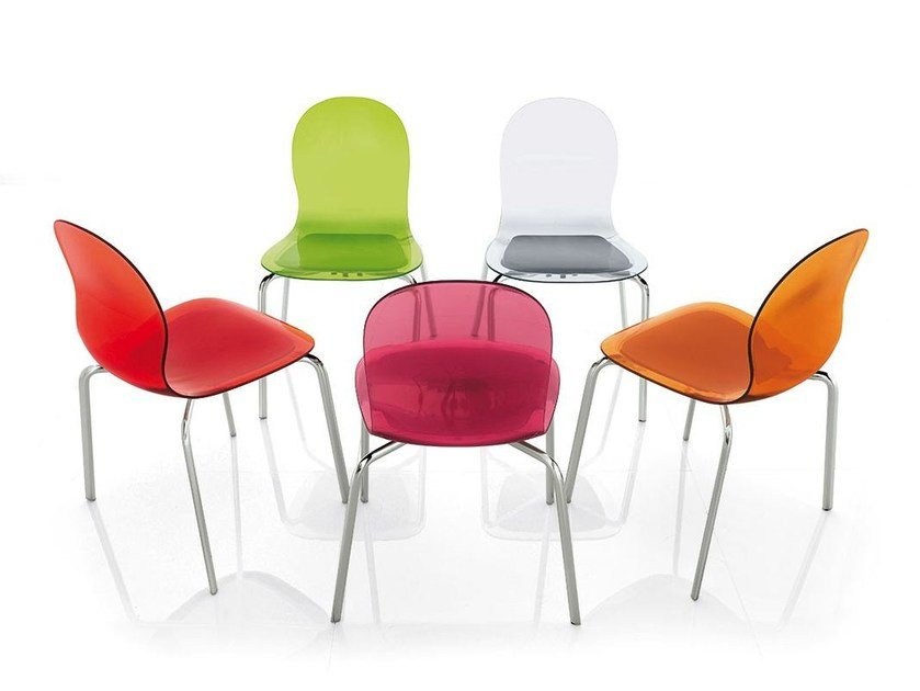 Stackable plastic chair LOLLIPOP - ALIVAR