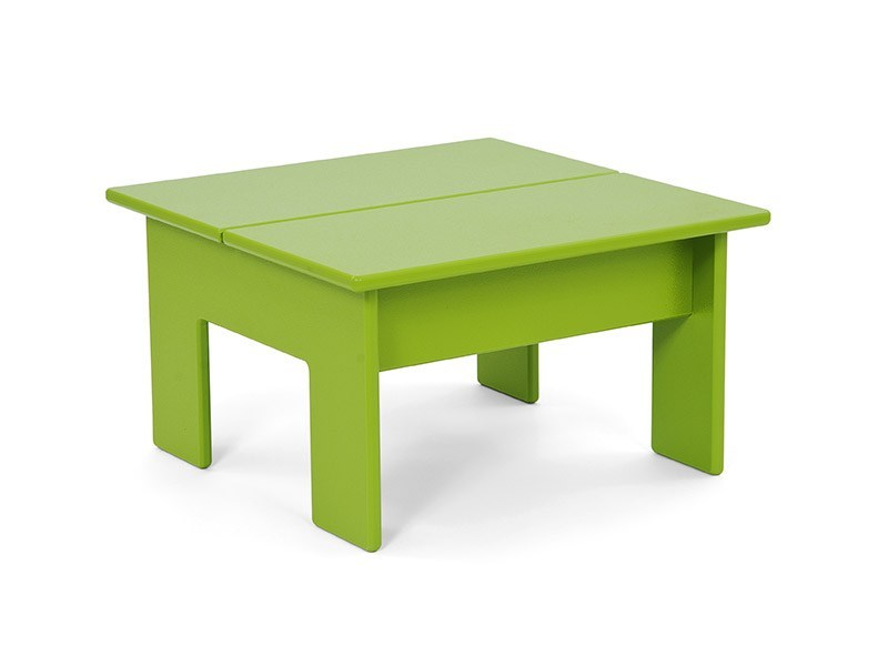 Recycled plastic coffee table LOLLYGAGGER | Square coffee table - Loll Designs