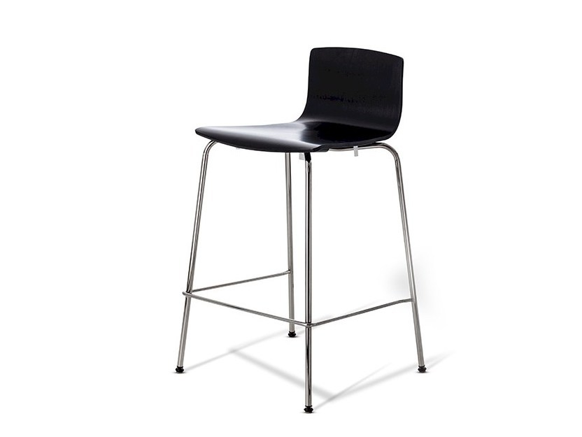 Counter stool with footrest LONDON BAR | Counter stool by Danerka