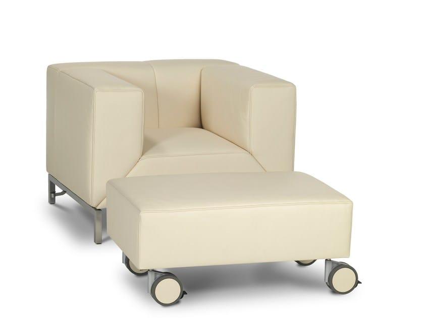 Upholstered pouf LONGUEVILLE   Pouf - Jori