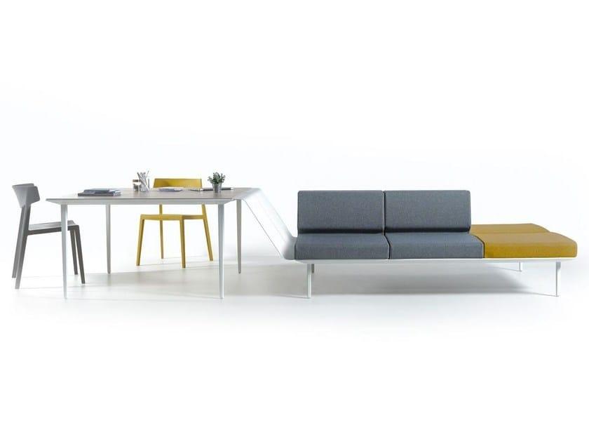 Meeting table / bench seating LONGO   Meeting table - ACTIU