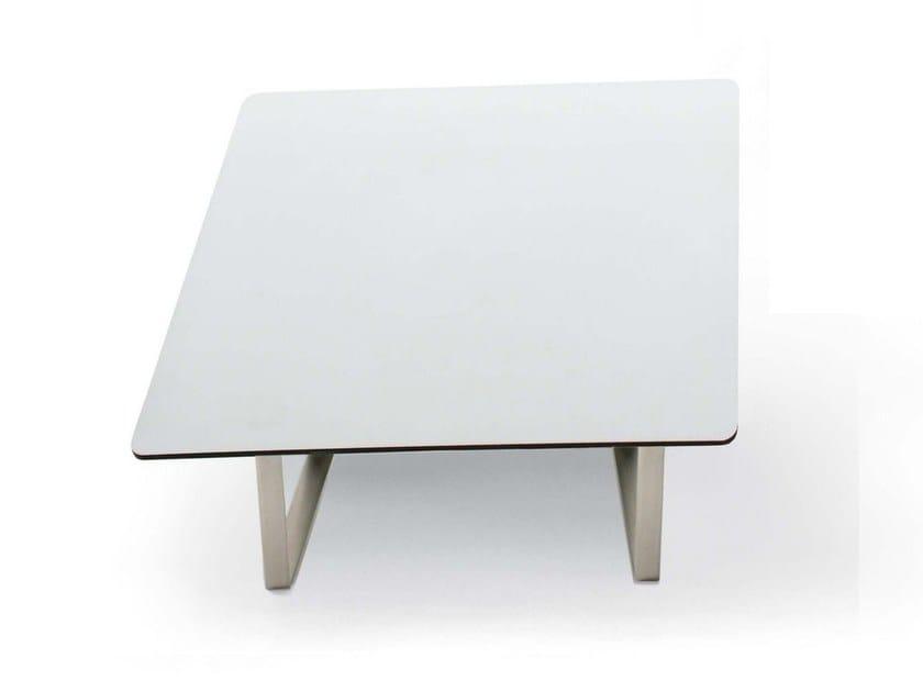 Square laminate coffee table LONGWAY | Square coffee table by Segis