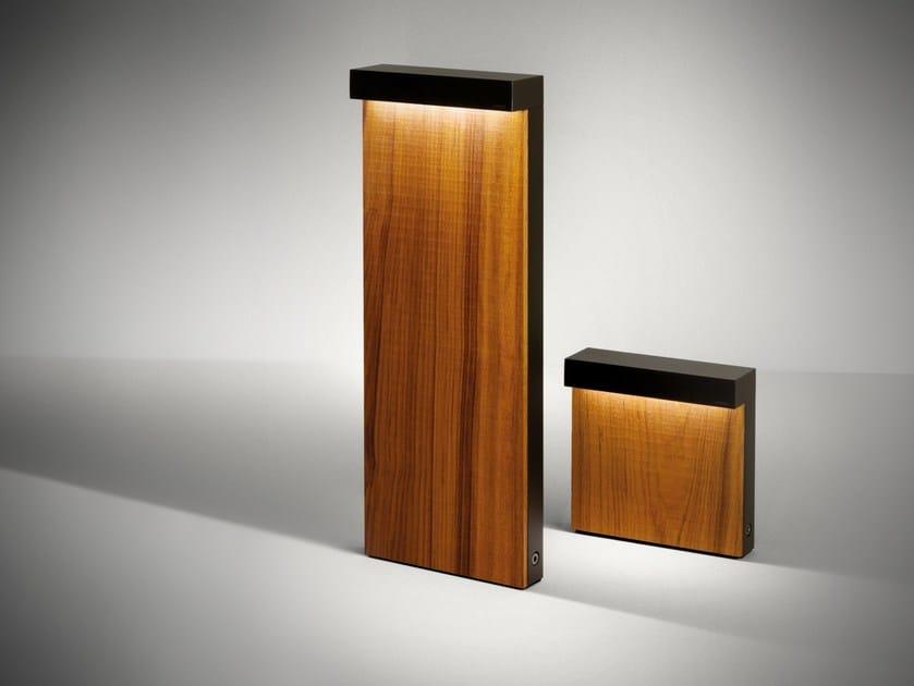 LED wooden bollard light LOOK WOOD | Bollard light by SIMES