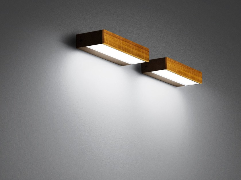 LED direct-indirect light wooden Wall Lamp LOOK WOOD | Wall Lamp by SIMES