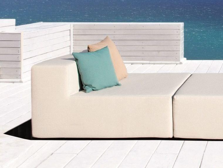 Sectional modular fabric armchair LOOP   Garden armchair by April Furniture