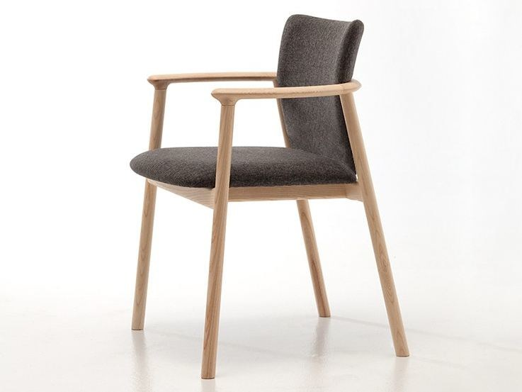 Fabric chair with armrests LORD 02 by Very Wood