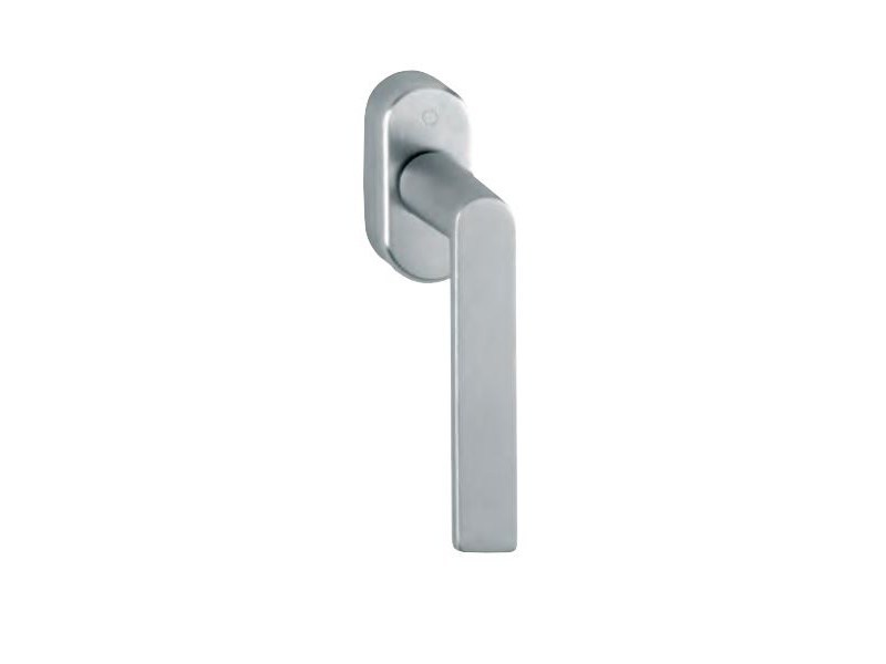 DK aluminium window handle on rose LOS ANGELES DK   Aluminium window handle - FOSSATI PVC