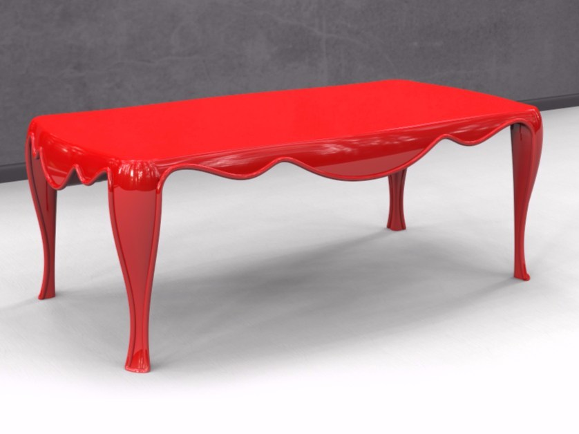 Lacquered Adamantx® living room table LOTHAR by ZAD ITALY