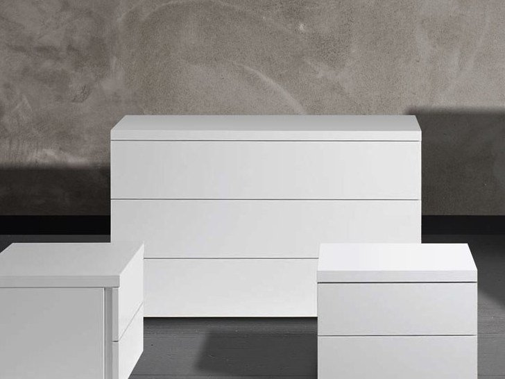 Lacquered chipboard dresser LOTO | Dresser by Chaarme