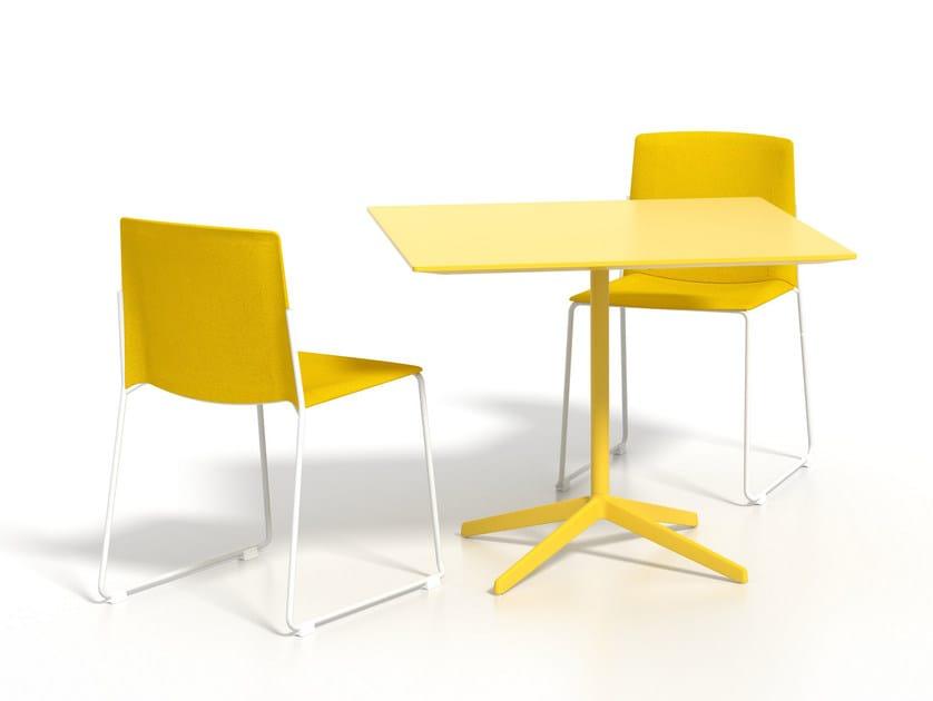 Square aluminium dining table LOTTUS AL | Square table - ENEA