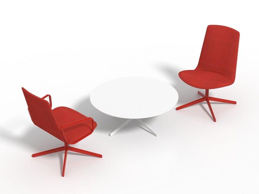 Fabric task chair with 4-Spoke base LOTTUS LOUNGE ALTO by ENEA