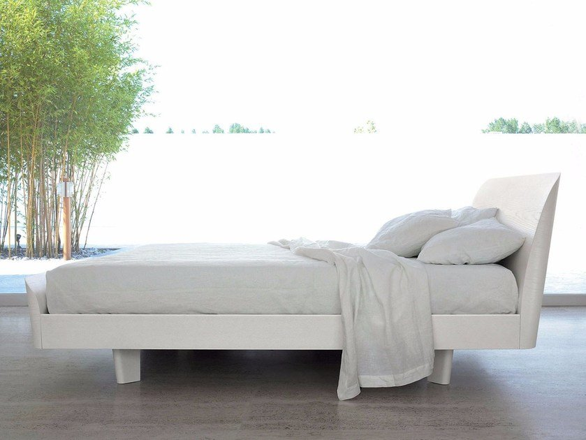 Wooden double bed LOTUS - Caccaro