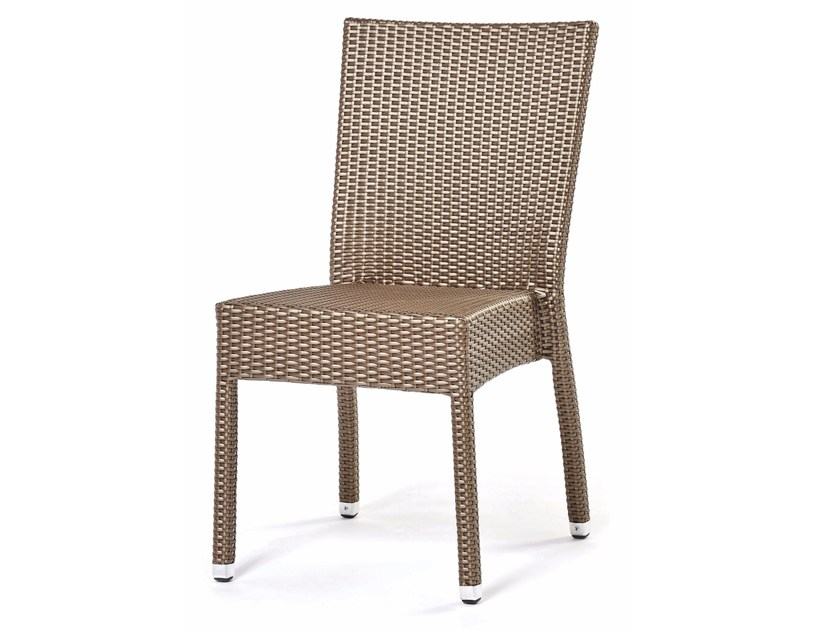 Chair with synthetic fiber weaving LOTUS | Chair - Varaschin