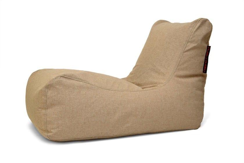 Upholstered fabric lounge chair LOUNGE HOME - Pusku pusku