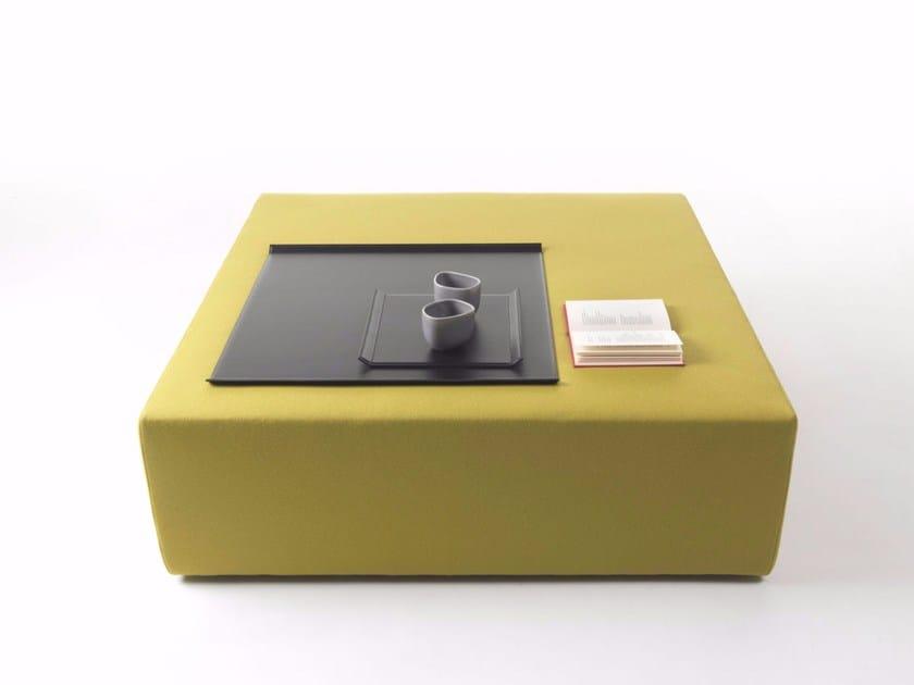 Square pouf LOUNGE   Square pouf by Marelli