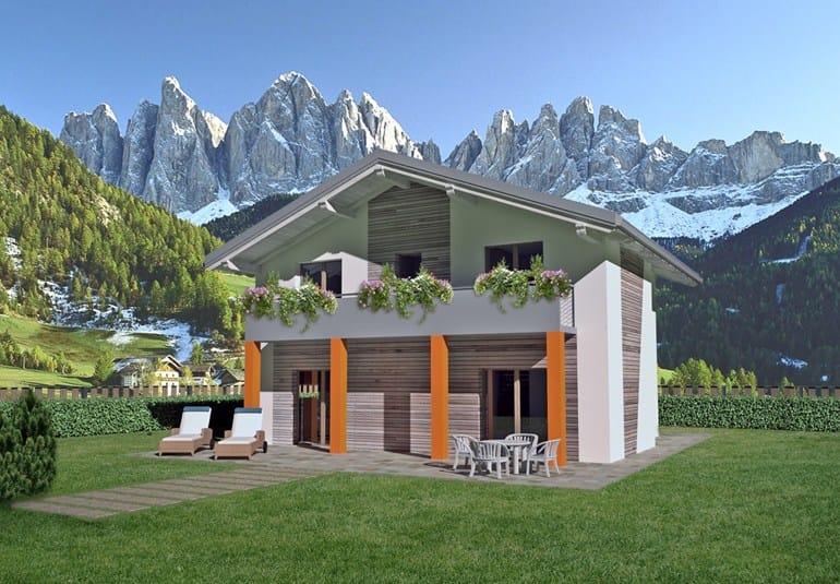 Casa prefabbricata in legno luc spazio positivo for Case in legno senza fondamenta