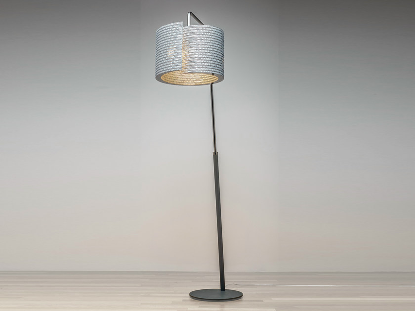 Kraft paper floor lamp LUCE | Reading lamp - Staygreen