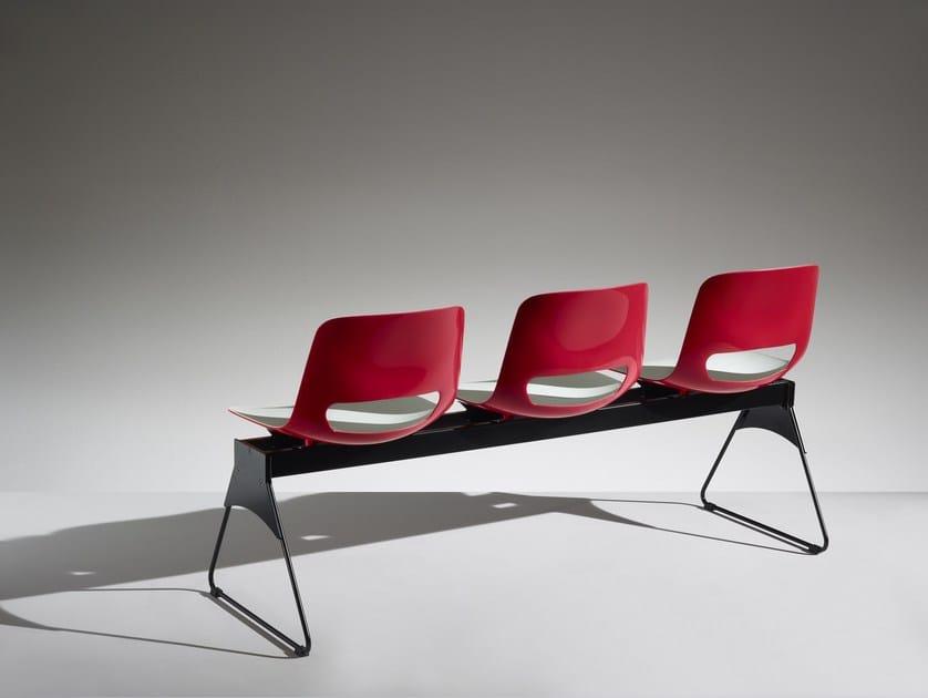 Polypropylene beam seating LUCKY | Beam seating - LAMM