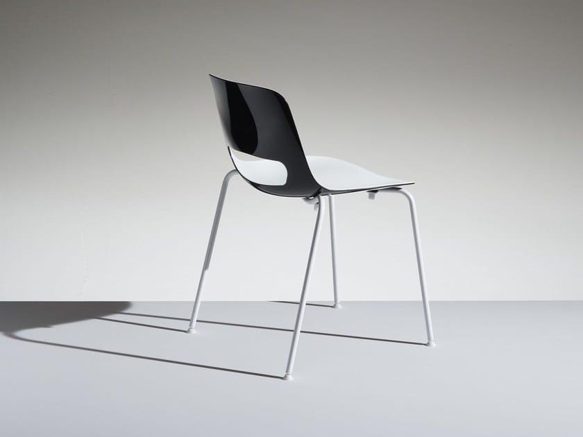 Polypropylene reception chair LUCKY   Reception chair by LAMM
