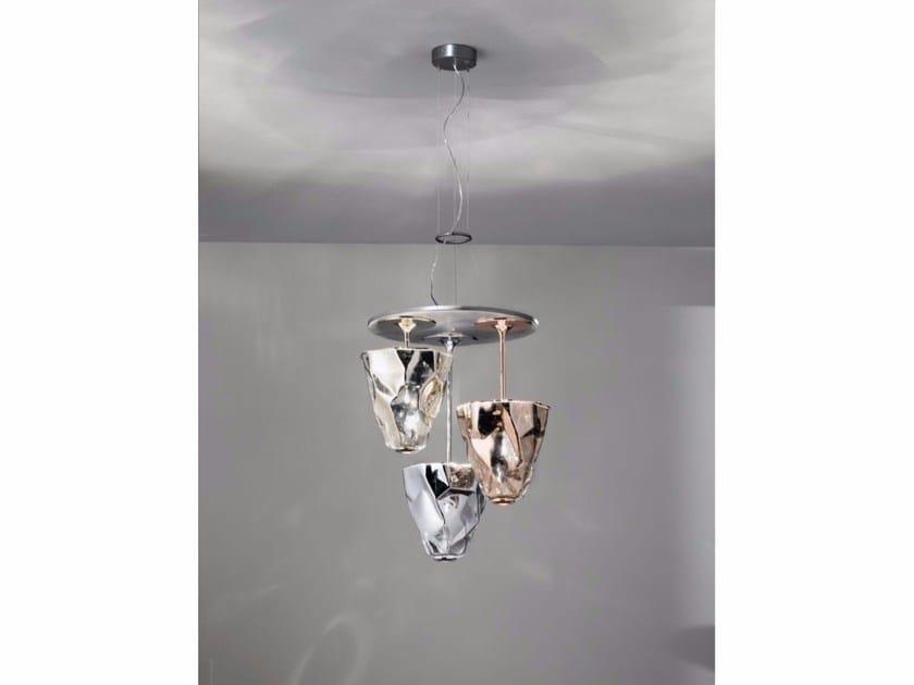 Indirect light glass pendant lamp LUMÈ | Indirect light pendant lamp - IDL EXPORT