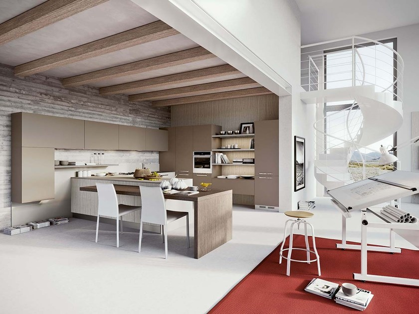 Fitted kitchen with handles LUNA by ARREDO 3