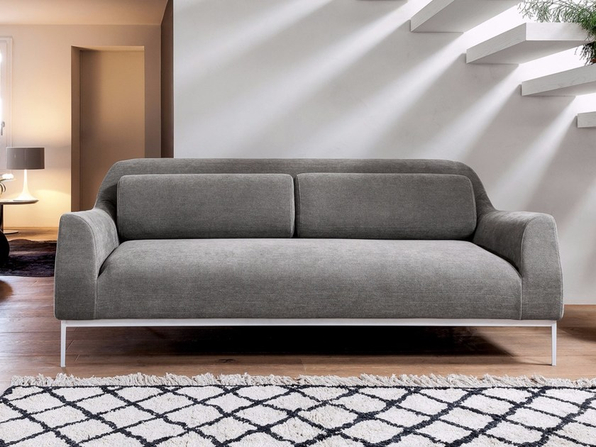 Fabric sofa with removable cover LUNA - Dall'Agnese