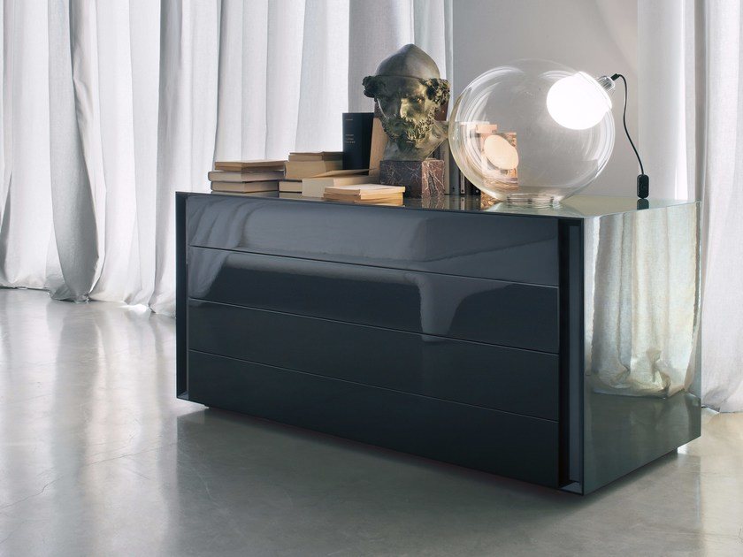Lacquered chest of drawers LUNA | Chest of drawers - Lema