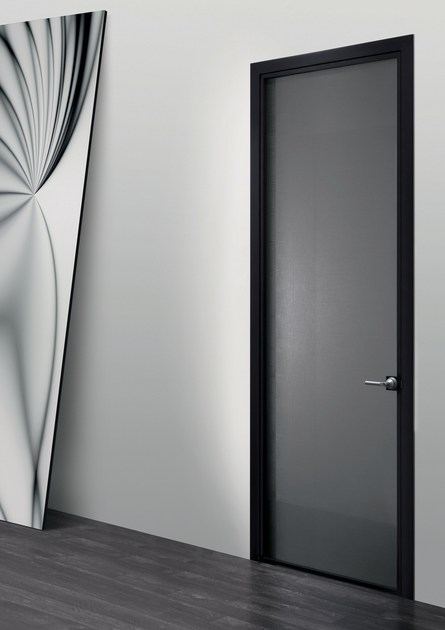 Hinged glass and aluminium door LUNA | Hinged door - RES