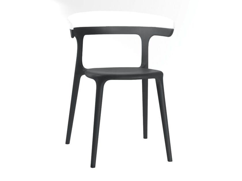 Sedie da giardino in plastica sedia grigia in arredo esterno e