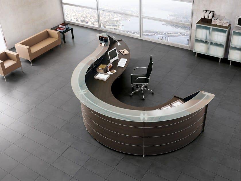 banque d 39 accueil de bureau luna by sinetica. Black Bedroom Furniture Sets. Home Design Ideas