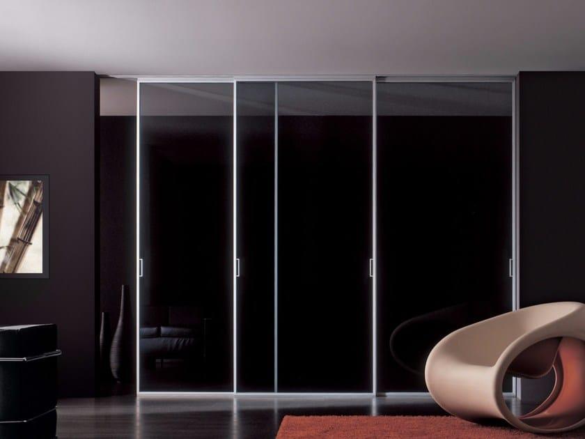 Glass and aluminium sliding door LUNA | Sliding door - RES