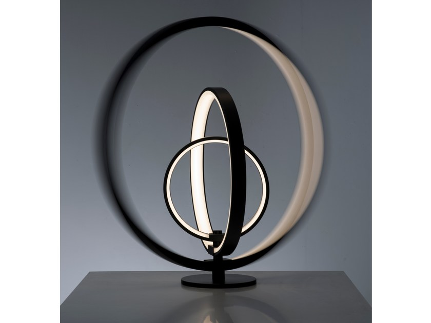 Aluminium table lamp LUNAOP | Table lamp - Martinelli Luce