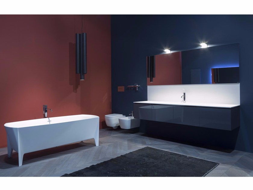 Bathroom furniture set LUNARIA by Antonio Lupi Design